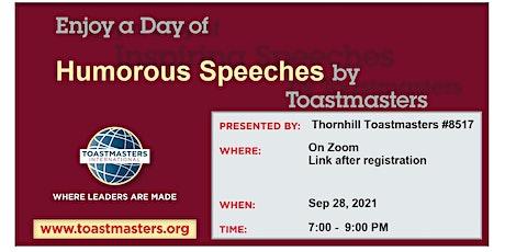 Thornhill Humorous Speech contest tickets