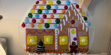 """Gingerbread House 10"""" Fused Glass Class tickets"""