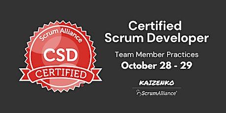 Team Member Practices - Certified Scrum Developer(CSD) tickets