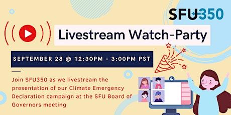 SFU350 Livestream Watch-Party Event tickets