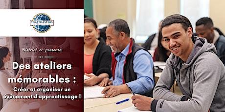Des ateliers mémorables : Créer et organiser un événement d'apprentissage ! billets