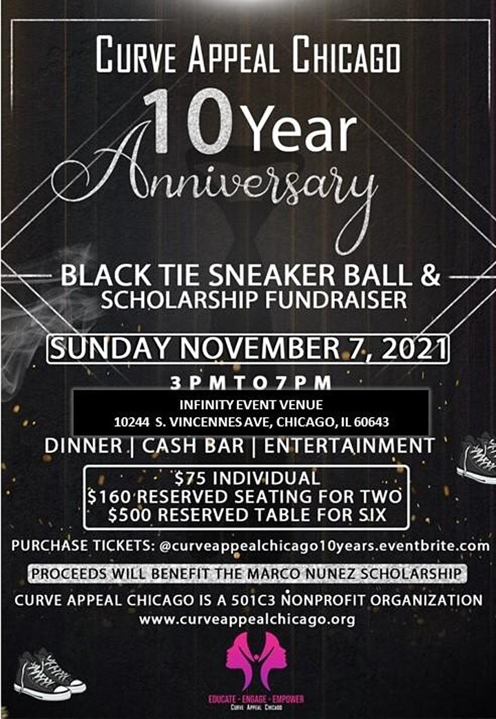 Curve Appeal Chicago 10 Year Anniversary BLACK TIE SNEAKER BALL image