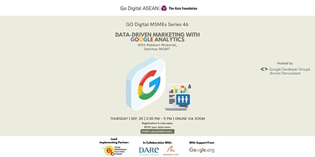 Go Digital MSME Series 46: Data-Driven marketing with Google Analytics tickets