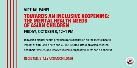 Towards An Inclusive Reopening: The Mental Health Needs of Asian Children tickets