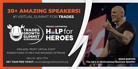 Trades Growth Summit - A virtual Event in Aid of Help For Heroes tickets