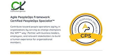 APF Certified PeopleOps Specialist™ (APF CPS™)   Oct 26-27, 2021 tickets