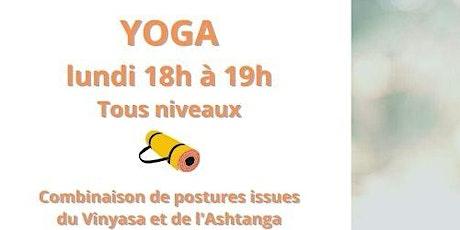 Cours de Yoga  Présentiel - Tous niveaux - lundi 27 septembre  2021 à 18h billets