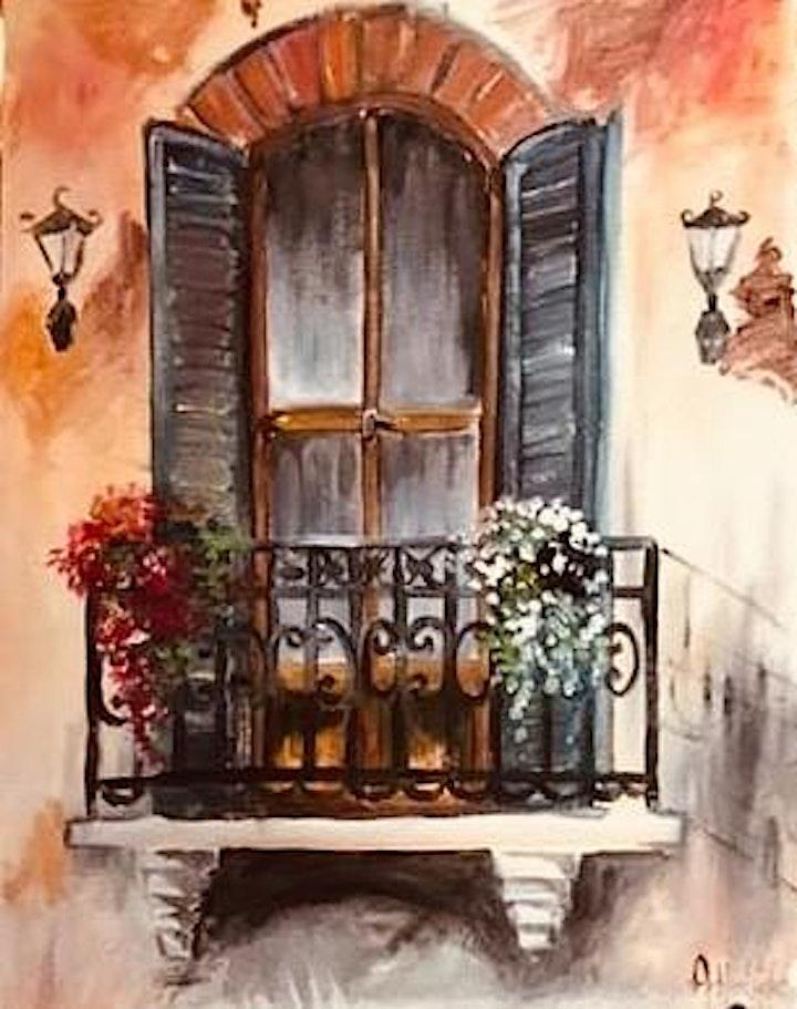 ONLINE Paint Along @ Home -- Juliet's Balcony image