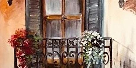 ONLINE Paint Along @ Home -- Juliet's Balcony tickets