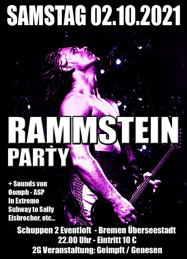 Rammstein Party Bremen - 2G - Geimpft und Genesen: Bild
