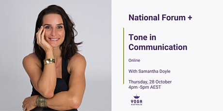National Forum + Tone in Communication tickets