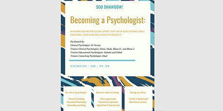 An information and support event for UK based Somali aspiring psychologists tickets