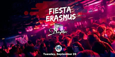 ★ FIESTA ERASMUS ★ Mardi 28 septembre 2021 X Le Duplex billets