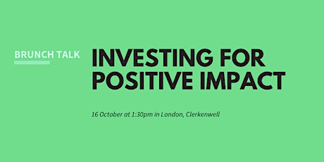 Brunch: sustainable and impact investing tickets