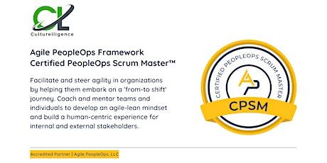 APF Certified PeopleOps Scrum Master™ (APF CPSM™)   Nov 11-12, 2021 tickets