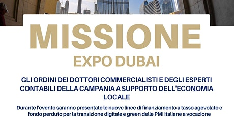 MISSIONE EXPO DUBAI biglietti