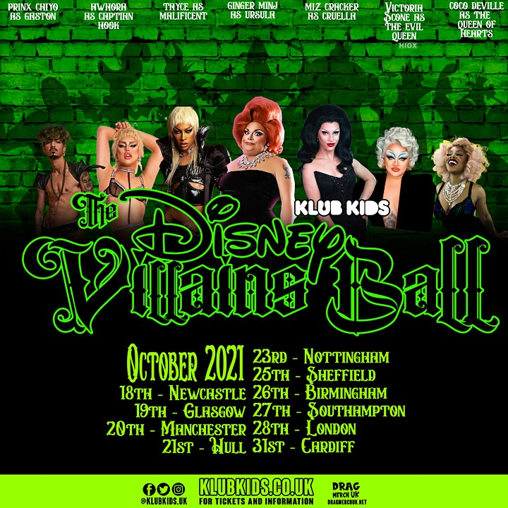 KLUB KIDS MANCHESTER presents THE DISNEY VILLAINS BALL (ages 14+) image