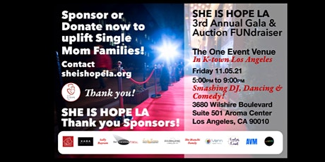 SHE IS HOPE LA 3rd Annual Gala & Auction FUNdraiser tickets