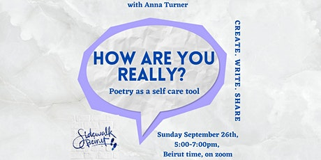 Online Poetry Workshop: How Are You Really? tickets