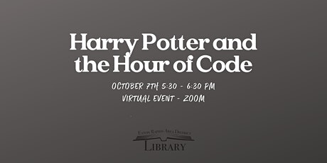 Harry Potter and the Hour of Code tickets