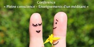 "Conférence ""Méditation pleine conscience"" à Naturabio..."