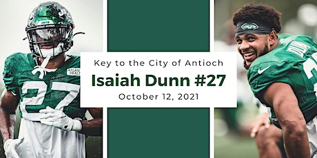 Key to the City of Antioch for New York Jets CB Isaiah Dunn #27 tickets