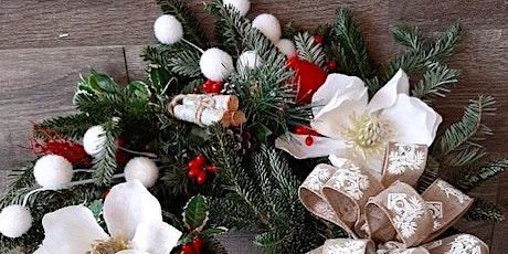 Wine, Dine, & Design: Fresh Winter Greens Wreath Tutorial tickets