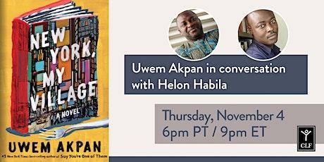 Uwem Akpan in conversation with Helon Habila tickets