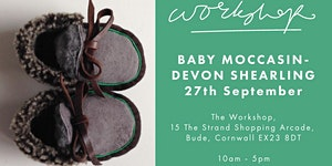 Baby Moccasin Workshop - Working with Devon Shearling
