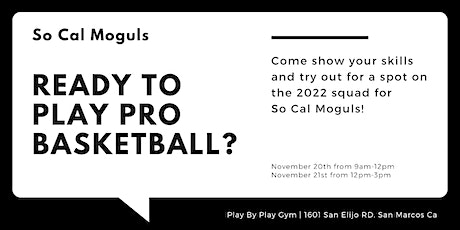 Copy of So Cal Moguls Team Tryouts tickets