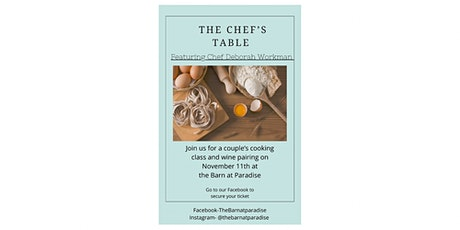 Couples cooking and wine pairing class tickets