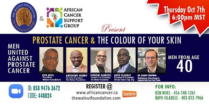 Prostate Cancer and the colour of your skin (With The Walnut Foundation) image
