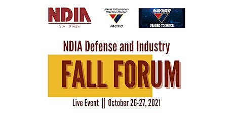 NDIA San Diego Defense and Industry Fall Forum 2021 tickets