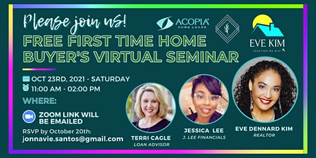 FREE First Time Home Buyer's Virtual Seminar tickets