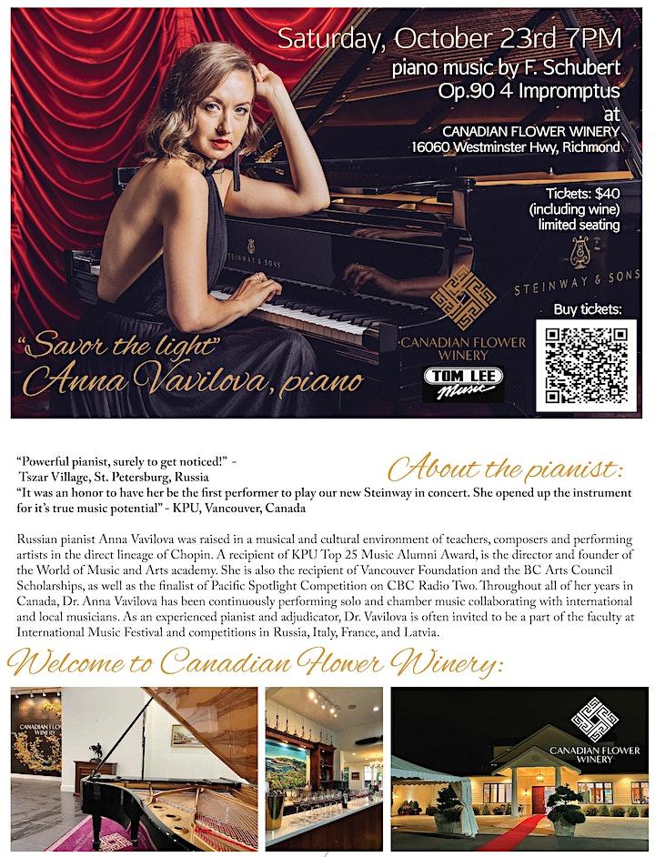 Russian pianist Anna Vavilova performs Schubert Impromptus Op.90 image
