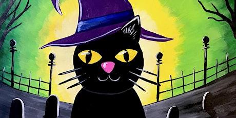 Kids Paint-Along Class: Spooky Kitten tickets
