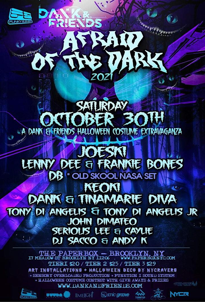 Afraid of the Dark - An Old School NYC Halloween Rave image