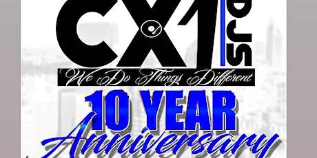 Cx1DJs 10 Year Anniversary tickets