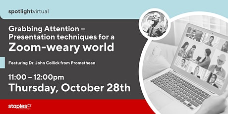 Grabbing Attention – Presentation techniques for a Zoom-weary world tickets