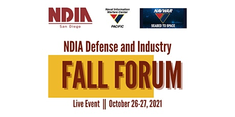 NDIA San Diego Defense and Industry Fall Forum 2021-SPONSOR ONLY tickets