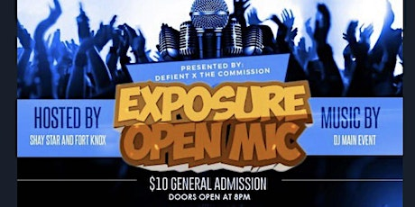 Exposure Open Mic is one of the largest open mic platforms in the southeast tickets