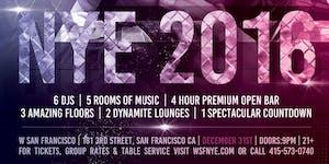 NYE 2016 at W Hotel SF