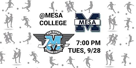 Women's Soccer San Diego Miramar College vs Mesa College 7pm Kickoff @Mesa tickets