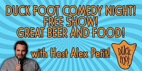 Duck Foot Miramar OCTOBER Comedy Night! OCTOBER 22, 2021 tickets