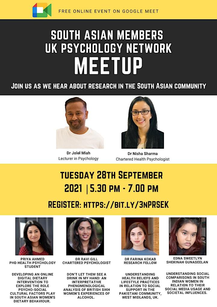 UK South Asian Psychology Network Meet Up September image