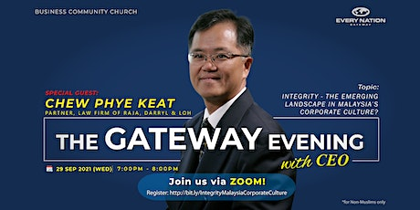 Integrity - The Emerging Landscape in Malaysia's Corporate Culture tickets