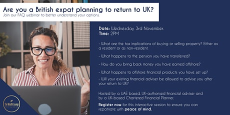 UK Expat financial advice for repatriation tickets