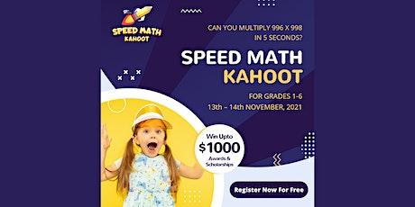 98thPercentile's FREE  Speed Math Kahoot Contest-Grades 1 to 6 tickets