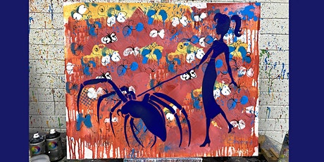Woman Walking Spider  Paint and Sip Party  5.11.21 tickets