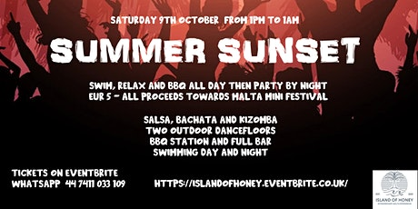 Summer Sunset - Salsa, Bachata, Kizomba - Private Beach tickets